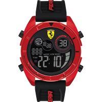 Scuderia Ferrari 法拉利 奔馳電子計時手錶-紅x黑 FA0830549
