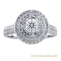 King Star 30分鑽石城堡18K金戒指(視覺效果一克拉)