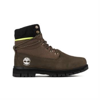 Timberland男款軍綠色拉鍊領反摺靴(A24BM901)