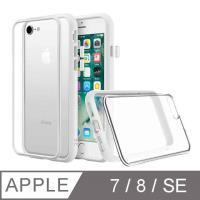 【RhinoShield 犀牛盾】iPhone 7/8 Mod NX 邊框背蓋兩用手機殼-白色