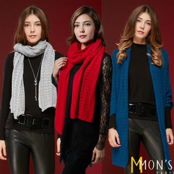 MONS皇家御用小羔羊毛兩用式披肩/圍巾