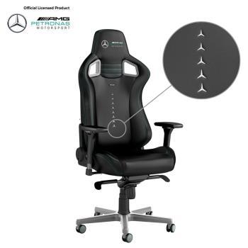 noblechairs 皇家EPIC系列電競賽車椅-Mercedes 賓士AMG Petronas 車隊聯名款