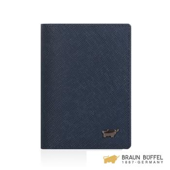 【BRAUN BUFFEL】洛非諾III系列4卡名片夾 -午夜藍 BF314-402-MAR
