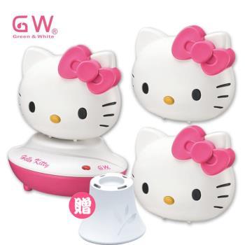 GW水玻璃 Hello Kitty分離式除濕機組5件組(薰香台)【聯名商品】
