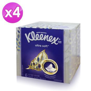 美國進口Kleenex頂級柔嫩盒裝面紙65抽x4組