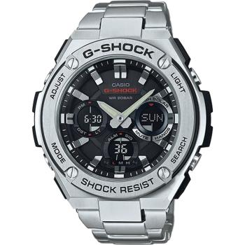 CASIO G-SHOCK 絕對強悍太陽能數位手錶-銀色/不鏽鋼(GST-S110D-1A)