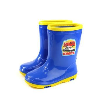 TOMICA小汽車  防水 雨靴 雨鞋 藍色 中童 童鞋TM7785 no818