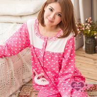 天使霓裳 幸福小熊貓 兩件式休閒舒適睡衣組(桃) HY422