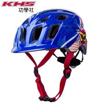 KHS功學社 指定用帽 KALI 兒童自行車/單車安全帽-爆烈藍/紅