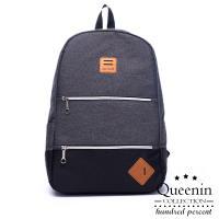 DF Queenin流行 - 上學通勤輕旅行筆電夾層防潑水後背包-共2色