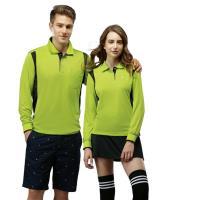【SPAR】彩雲紋吸排布女版長袖POLO衫SP77411亮綠色