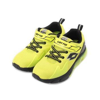 LOTTO STRETCH 氣墊跑鞋 黃 LT9AKR0954 大童鞋 鞋全家福