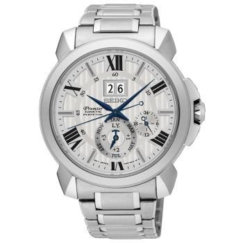 SEIKO 精工 Premier 人動電能萬年曆大日期腕錶/42.9mm (7D56-0AE0S/SNP139J1)