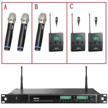 【MIPRO】ACT-300B(1U雙頻道自動選訊無線麥克風組)