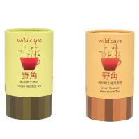 【野角wildcape】南非博⼠綠蜜樹茶+博⼠綠茶各1罐(40茶包/罐)