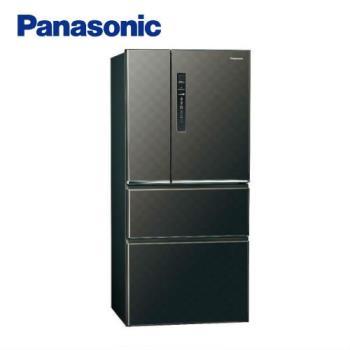 Panasonic國際牌610L一級能效四門變頻電冰箱(絲紋黑)NR-D610HV-V (庫)