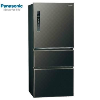 送吸濕毯★ Panasonic國際牌610L一級能效三門變頻電冰箱(絲紋黑)NR-C610HV-V(庫)