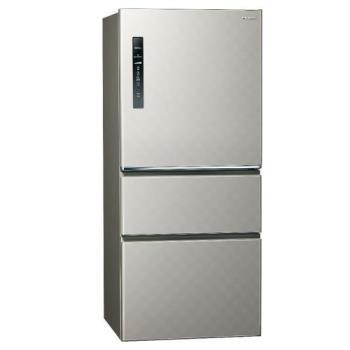 送吸濕毯★ Panasonic國際牌610L一級能效三門變頻電冰箱(絲紋灰)NR-C610HV-L (庫)