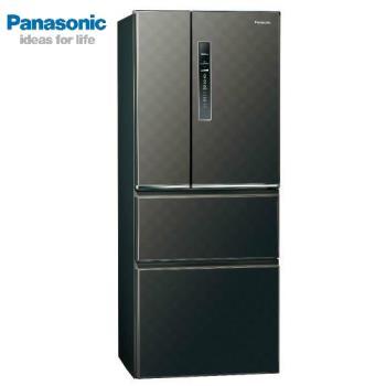 買就送雙面砧板+陶瓷刀★Panasonic國際牌500公升一級能效變頻四門電冰箱(絲紋黑)NR-D500HV-V (庫)