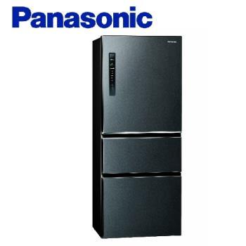 買就送雙面砧板+陶瓷刀★Panasonic國際牌500公升一級能效變頻三門電冰箱(絲紋黑)NR-C500HV-V (庫)