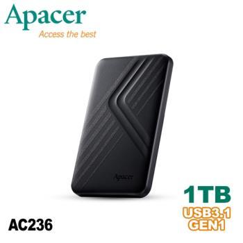 Apacer宇瞻 AC236 1TB USB3.1 Gen1行動硬碟
