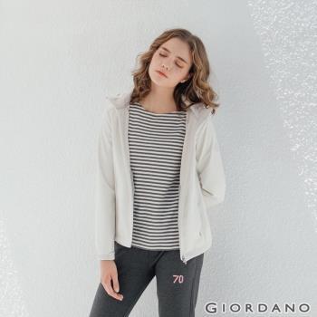 GIORDANO 女裝Softshell 三合一高機能炫彩刺繡連帽外套-02 雪白