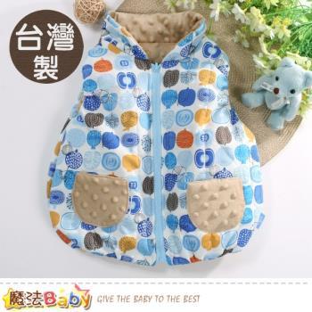 魔法Baby 嬰幼兒外套 台灣製秋冬保暖鋪棉背心外套~b0213