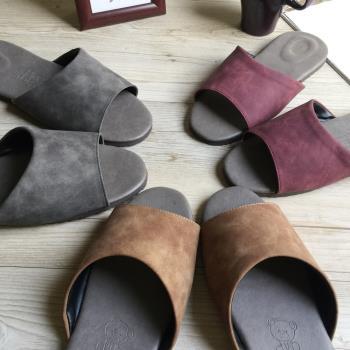 【iSlippers】風格皮質室內拖鞋-麂皮紋 (超值6雙組)