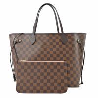 Louis Vuitton LV N41603 NEVERFULL MM 棋盤格紋子母束口購物包.中 現貨