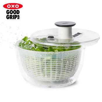 【OXO】按壓式蔬菜香草脫水器V4(脫水籃)-小