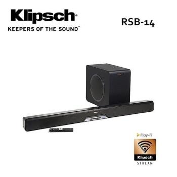 (出清特賣+獨家贈品) 古力奇 Klipsch 藍牙微型劇院 RSB-14 /RSB14 SOUNDBAR+超低音喇叭