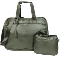 agnes b. 鋪棉旅行袋(大/墨綠)