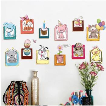 【半島良品】DIY無痕創意牆貼/壁貼-可愛小動物 XH6223中