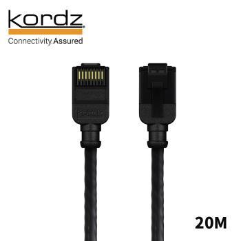 【Kordz】PRO CAT6 28AWG極細高速網路線 / 黑色20米