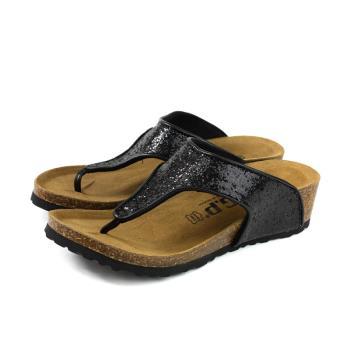 G.P 阿亮代言 夾腳拖鞋 人字拖 坡型跟 女鞋 黑色 W783-10 no349