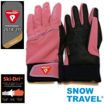 [SNOW TRAVEL]軍用PRIMALOFT-GOLD+特戰SKI-DRI防水保暖合身型手套AR-67/粉色/日韓限量版
