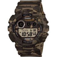 CASIO 卡西歐 G-SHOCK特別版迷彩電子錶-卡其/51mm GD-120CM-5DR