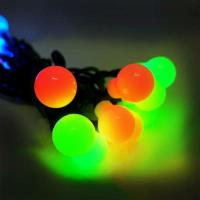 聖誕燈裝飾燈LED20燈珍珠燈造型燈(彩色光)(插電式/自動雙色雙閃)