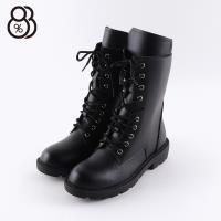 【88%】靴子-跟高4cm 皮質鞋面 側拉鍊 率性簡約中筒靴 馬丁靴 軍靴 MIT台灣製