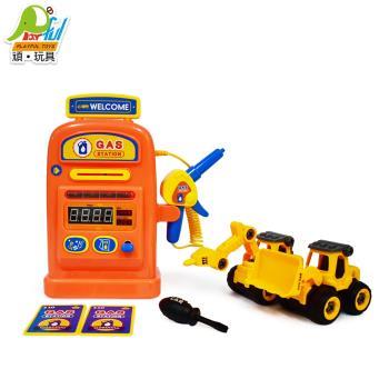 Playful Toys 頑玩具 DIY工程加油站 177 (工程車 怪手 挖土機 情境模擬 數字遊戲 仿真玩具)