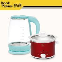 鍋寶 1.8L玻璃快煮壺+養生燉鍋 1.1L-超值組
