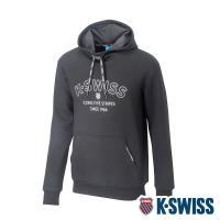 K-SWISS Embossed KS Logo Hoodie連帽上衣-男-黑