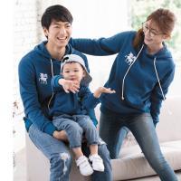 【LEIDOOE】時尚學院風中性款長袖帽T(28108藍)