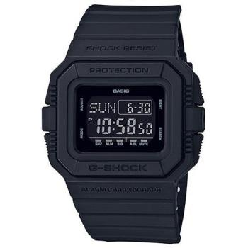 【CASIO】G-SHOCK 35周年超復古方形電子運動錶-消光黑 (DW-D5500BB-1)