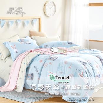 夢之語 3M頂級天絲兩用被床包四件組 (彼得兔熊) 雙人