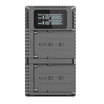 NITECORE 奈特柯爾 USN3 Pro Sony NP-F970 USB 雙槽智能充電器(F970,公司貨)