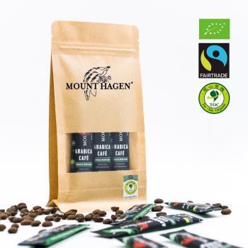 【Mount Hagen】德國原裝進口 有機低咖啡因即溶咖啡粉2袋優惠組(2g x 12包 x2/袋)