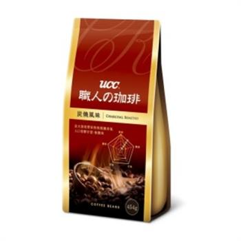 UCC 炭燒風味咖啡豆454g(獨特煙燻香氣)