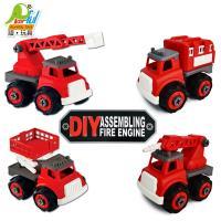 Playful Toys 頑玩具 DIY消防車 1061A(組裝 拆卸 雲梯車 升降車 裝備車 水塔車 益智玩具)