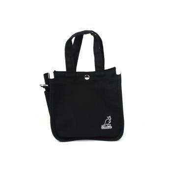 KANGOL 側背包 帆布袋 黑色 6955301620 noA38
